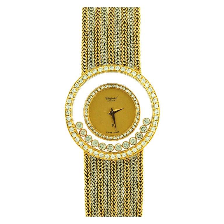 Chopard Ladies Yellow Gold Diamond Wristwatch