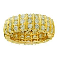 Wide Diamond Eternity Ring