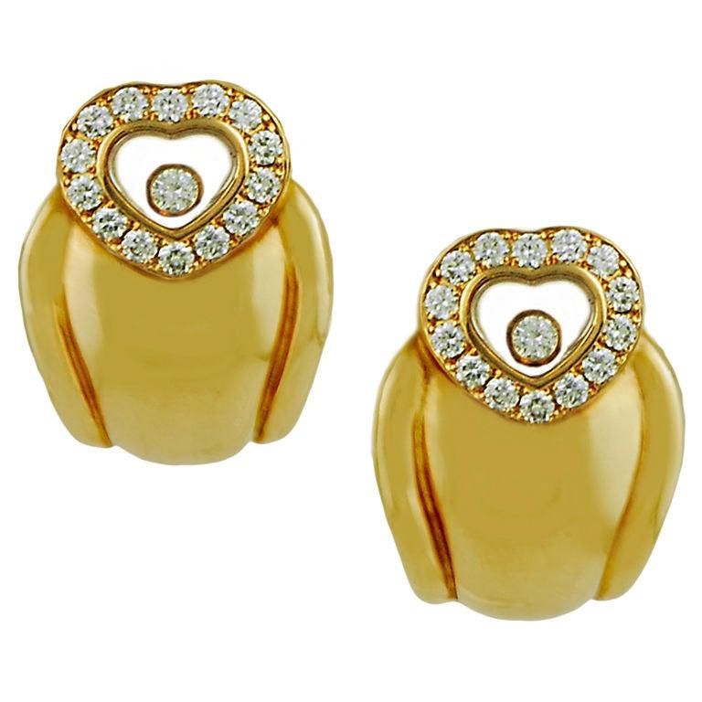 CHOPARD Happy Diamond Earrings