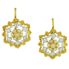 Mario Buccellati Snowflake Diamond Earrings