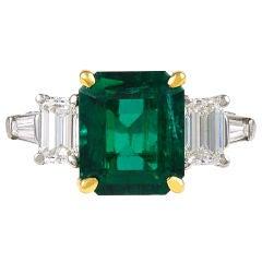 DAVID WEBB Emerald and Diamond Ring