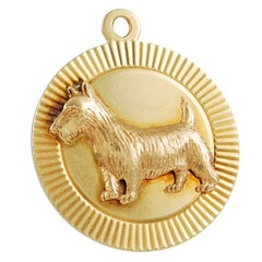 TIFFANY Scottie Gold Charm Pendant