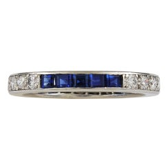TIFFANY & CO Diamond and Sapphire Eternity Band