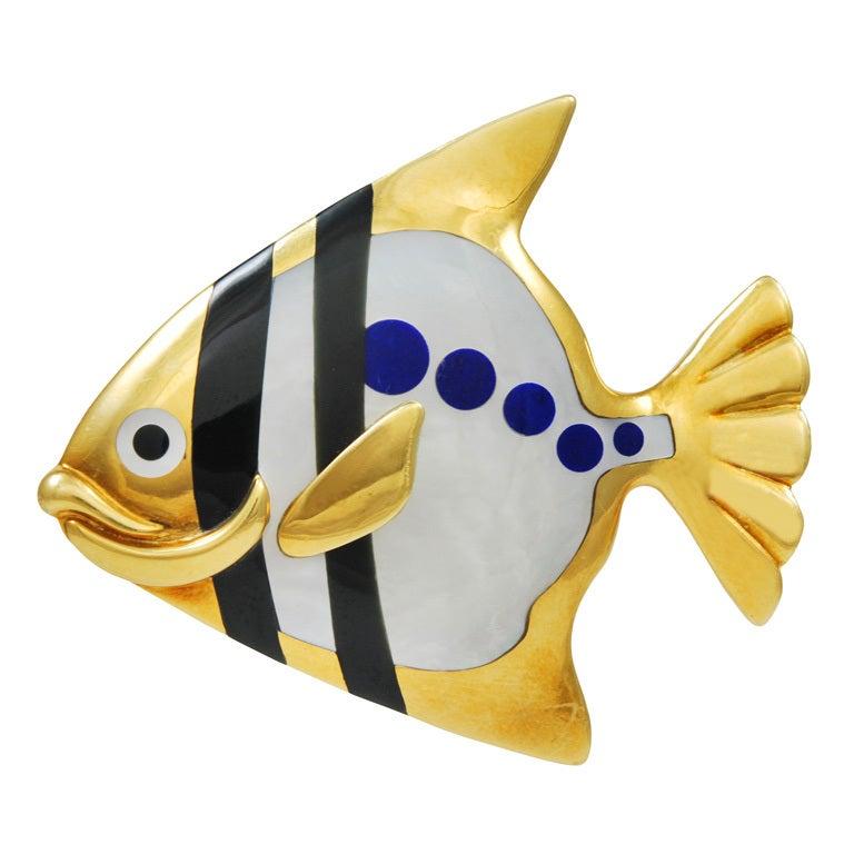 TIFFANY Angel Fish Brooch