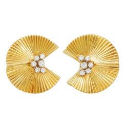 Tiffany & Co. Fluted Diamond Ear Clips