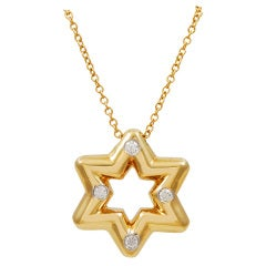 Tiffany & Co. Diamond Gold Star of David