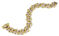 Pomellato Gourmette Diamond Gold Bracelet