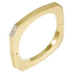 Geometric Diamond Bangle Bracelet