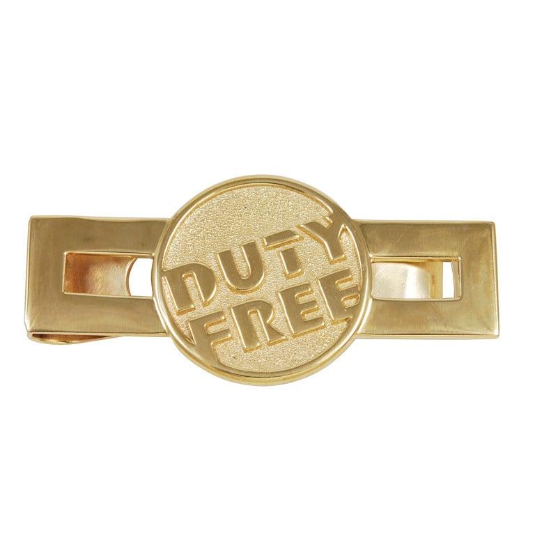 """Duty Free"" Gold Money Clip"