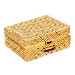 Tiffany & Co. Woven Gold Pill Box