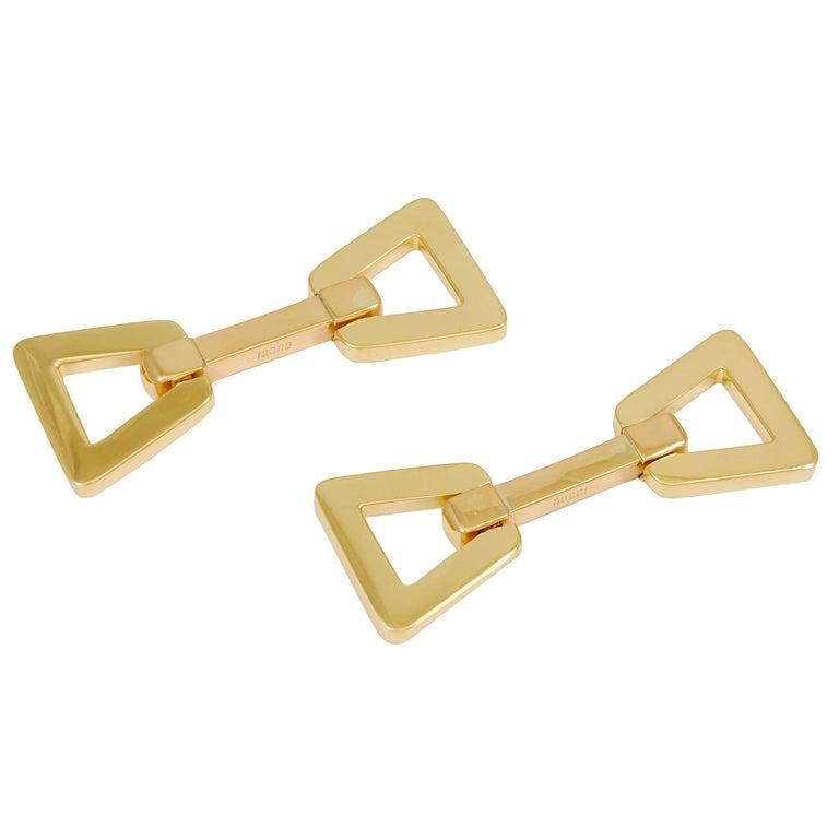 GUCCI Flip Gold Cufflinks