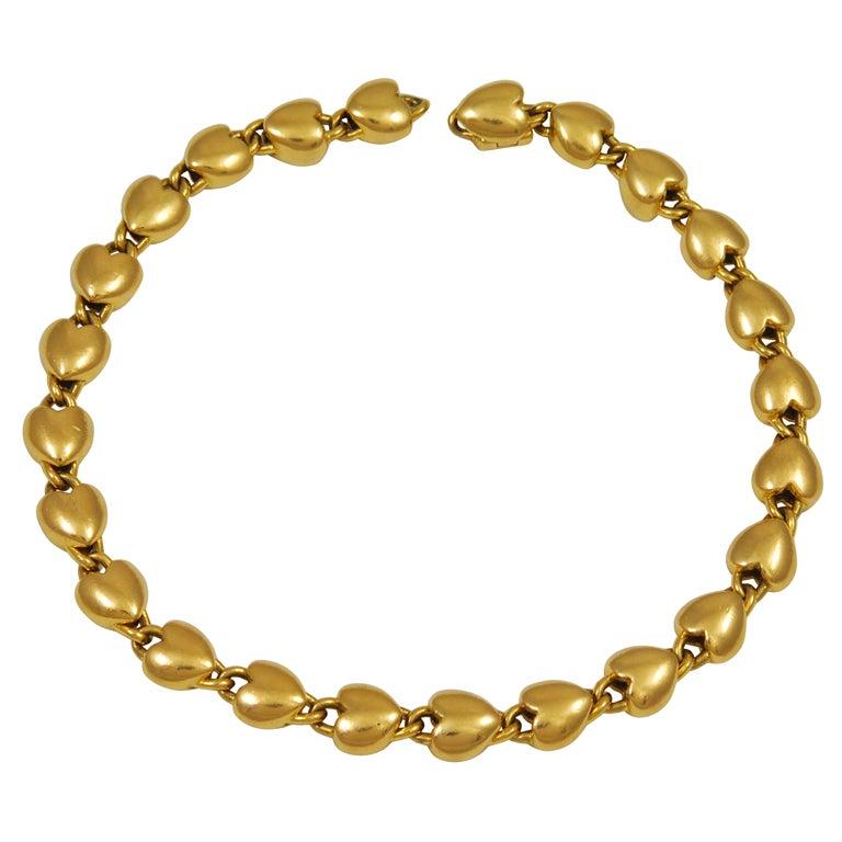 Cartier Gold Locked Heart Bracelet 1
