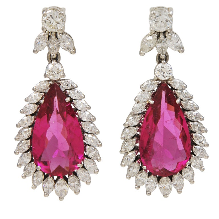 GARRARD & CO. Crown Jewellers Tourmaline Diamond Earrings 1