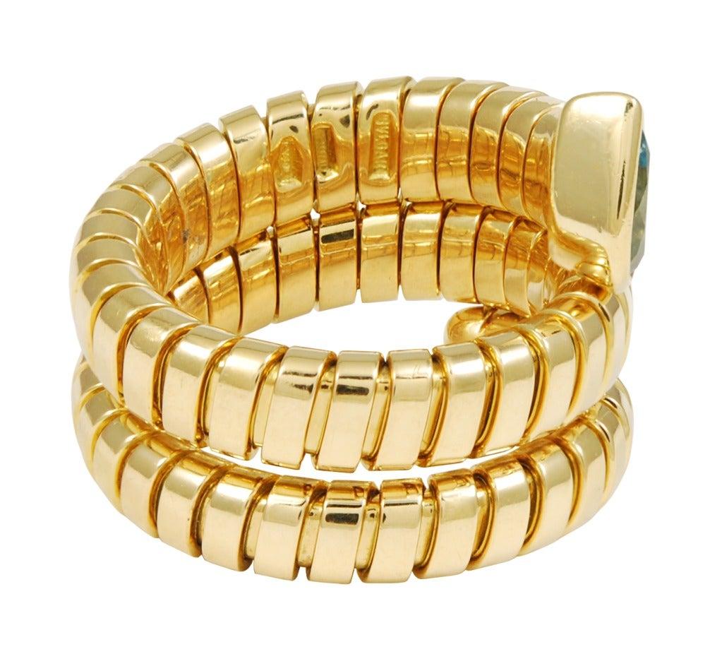Bulgari Tubogas Topaz Gold Ring image 2