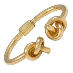 CARTIER LONDON Double Knot Gold Bangle Bracelet