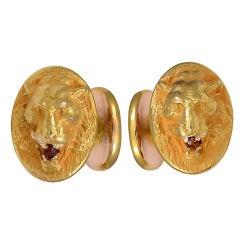 Lion and Lioness Cufflinks