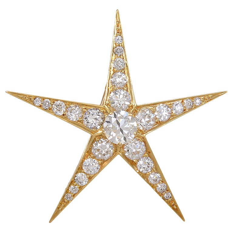 diamond golden star
