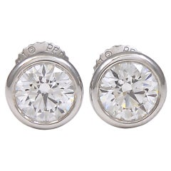 TIFFANY & CO PERETTI  Diamond Stud Earrings