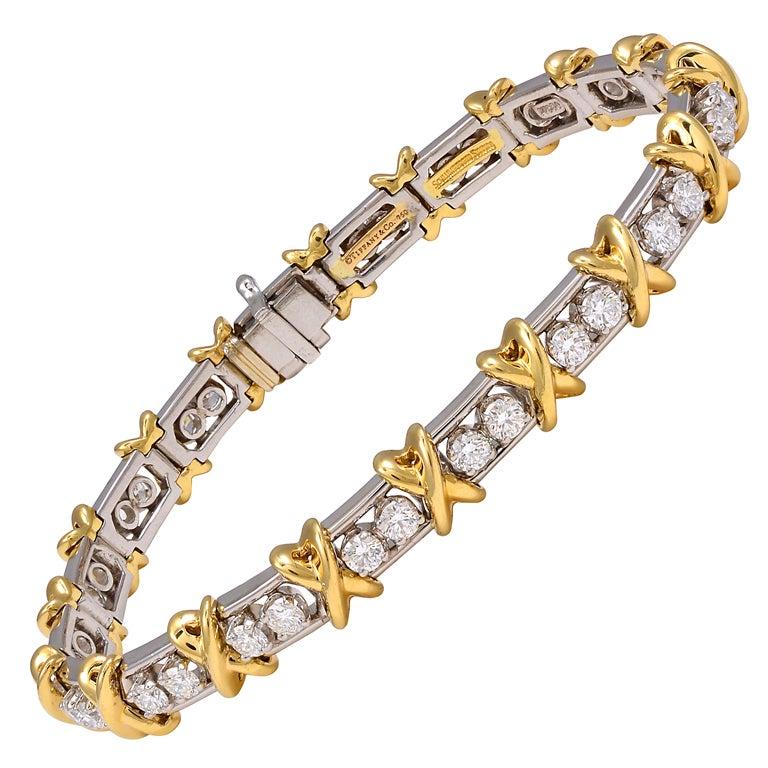 TIFFANY SCHLUMBERGER 36 Stone Bracelet For Sale