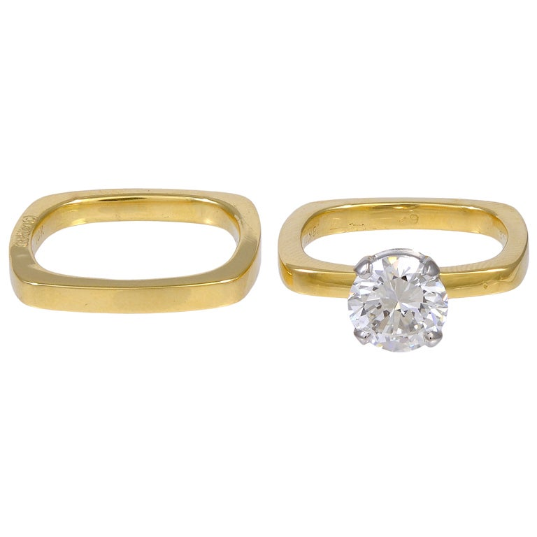 CARTIER DINH VAN DIAMOND Engagement Ring For Sale