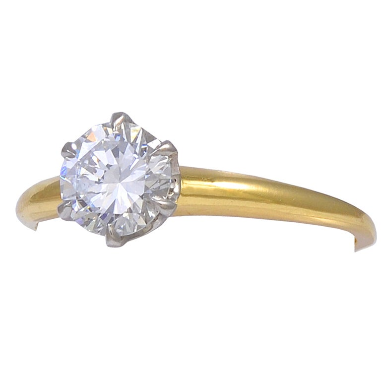 TIFFANY & CO Diamond Engagement Ring For Sale