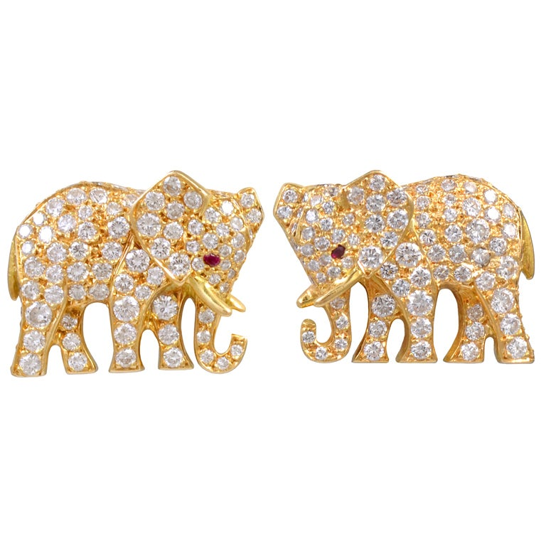 Cartier diamond cufflinks