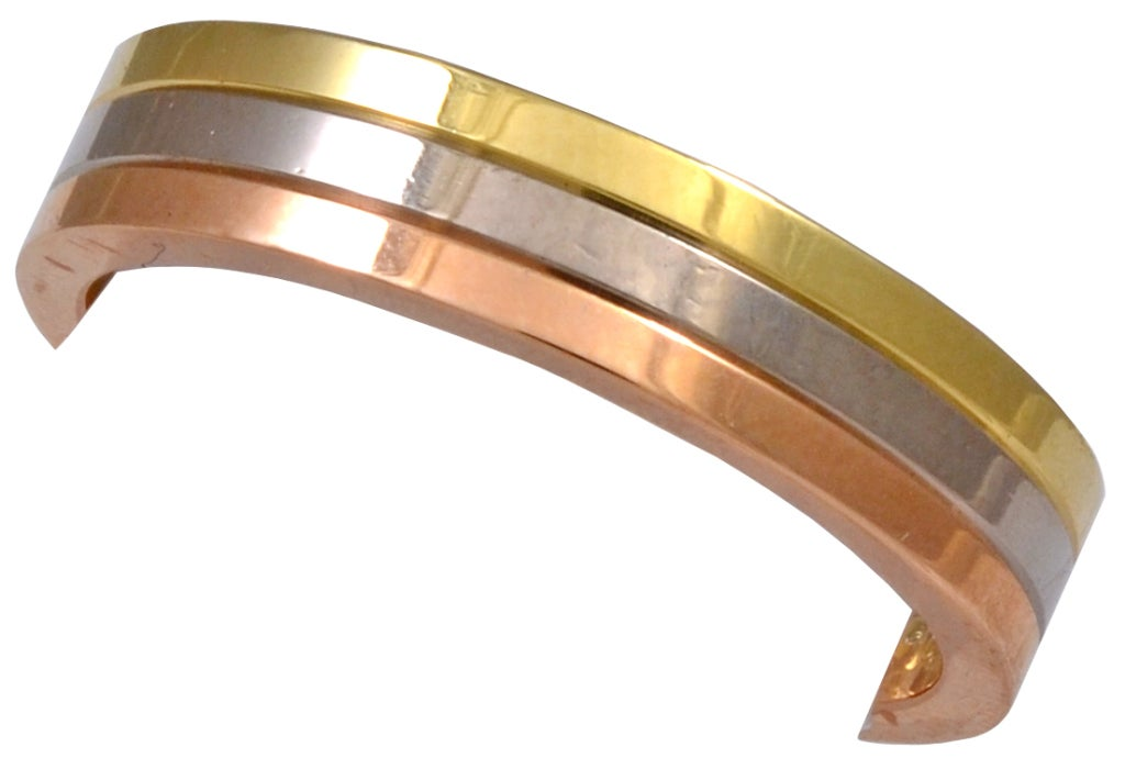 Cartier tri color wedding band at 1stdibs cartier tri color wedding band 2 junglespirit Image collections