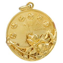 Charming French Gold Moveable Charm