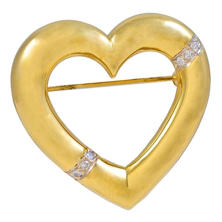 TIFFANY & CO PALOMA PICASSO Heart Brooch