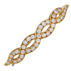 Diamond and Gold Barrette