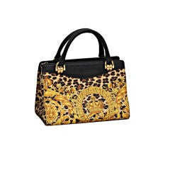 Gianni Versace Baroque Print Bag