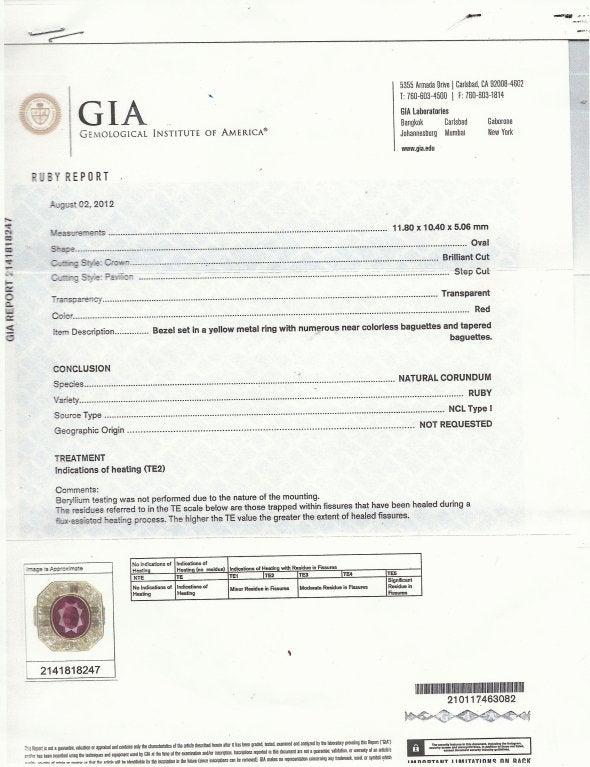 VAN CLEEF & ARPELS 5.66-ct Burmese Ruby Diamond Gold Ring For Sale 5