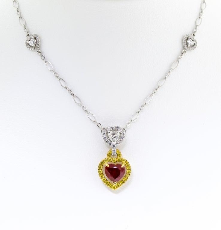 Stunning Burmese Ruby and Diamond Necklace 5