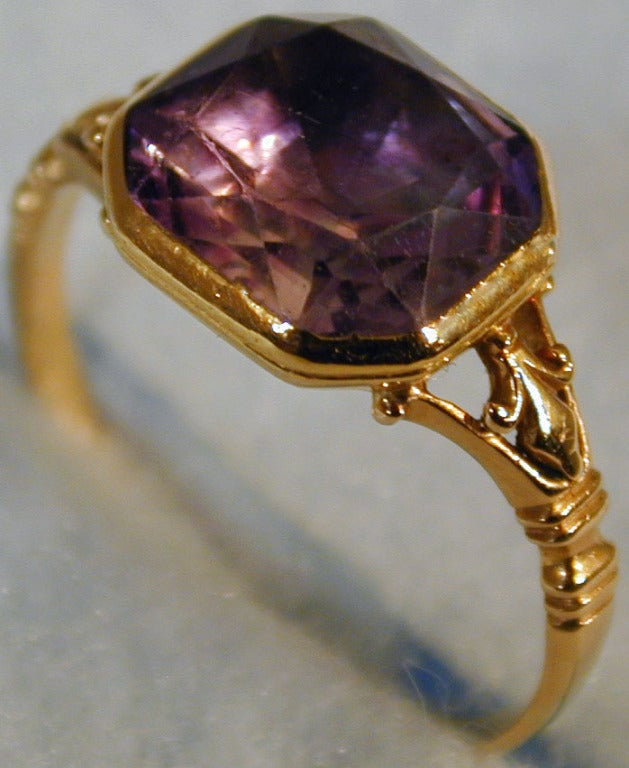 antique gold and amethyst ring at 1stdibs