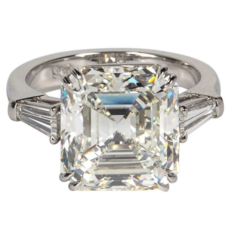 Classic Gia Emerald Cut Diamond Platinum Engagement Ring