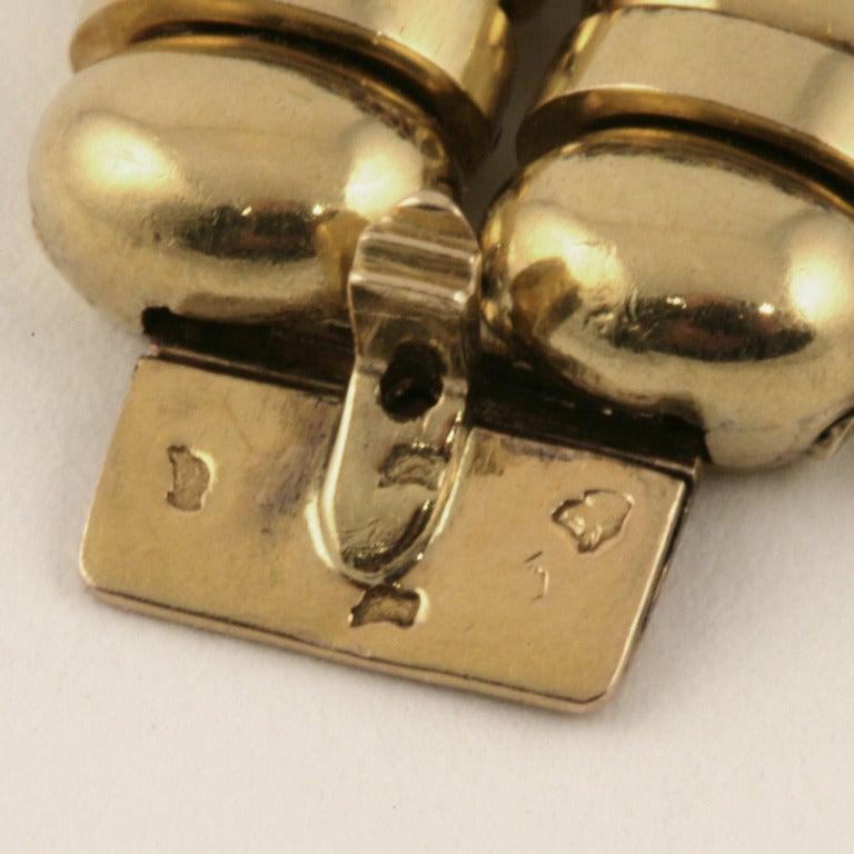 Boucheron Paris 1930s Retro Blue Sapphire Diamond Gold Bracelet For Sale 3