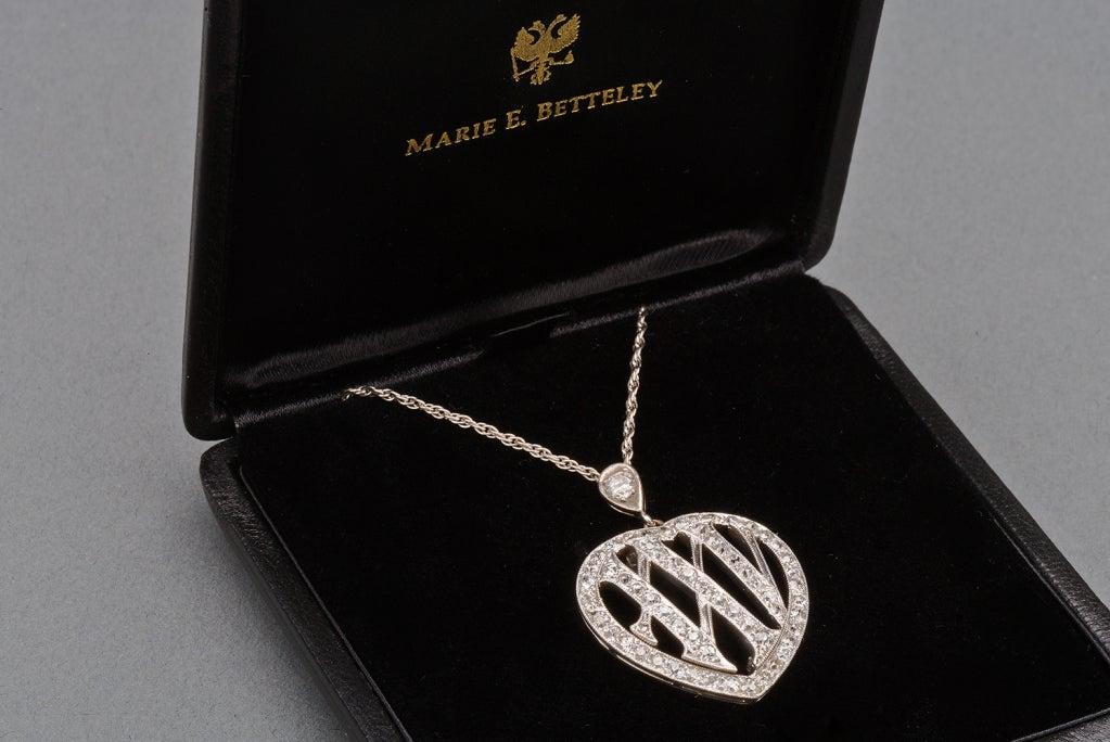 Women's 1910 Edwardian Diamond Gold Platinum 25th Anniversary Pendant For Sale