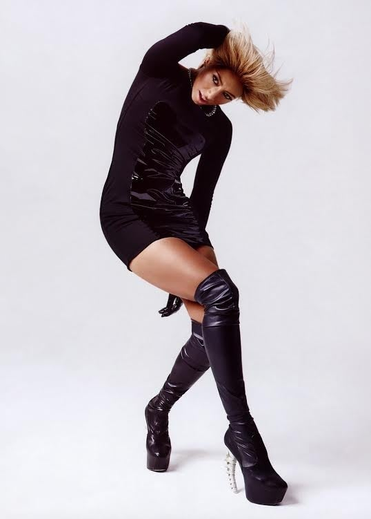 Dsquared2 Thigh High Black Leather Boots 7