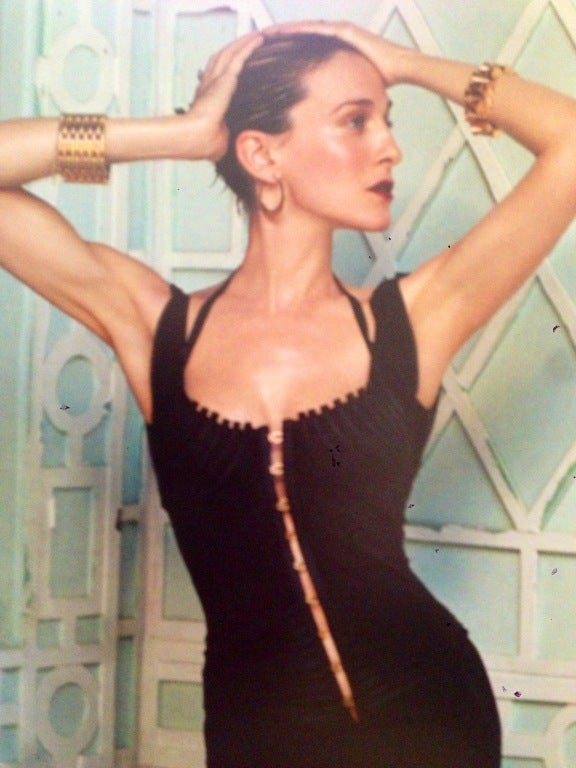 Gucci by Tom Ford Corset Dress In Tom Ford Book on SJP 7