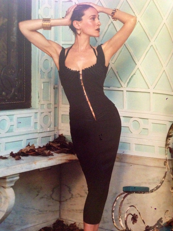 Gucci by Tom Ford Corset Dress In Tom Ford Book on SJP 8