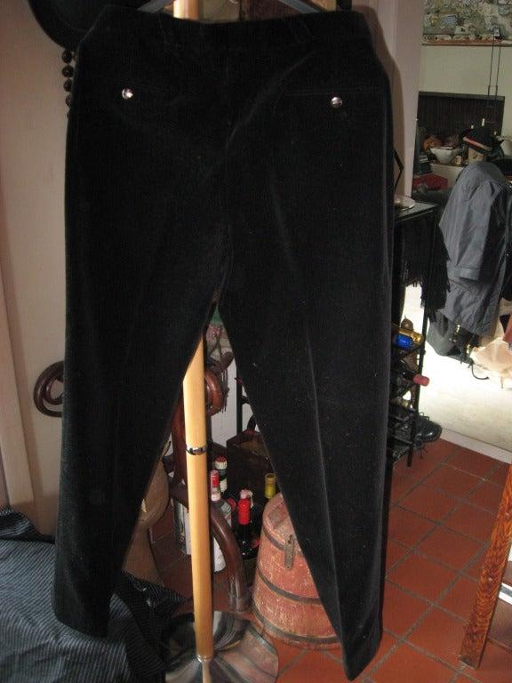 Thierry Mugler Men's Avant-garde Velvet Evening Suit For Sale 1