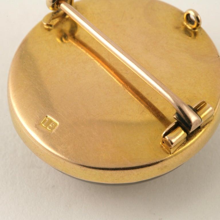 Antique English Essex Crystal Gold Dog Brooch 3