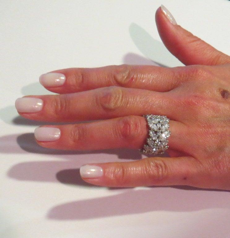 Important 1950s Platinum Diamond Wide Eternity Wedding Band Ring At 1stdibs