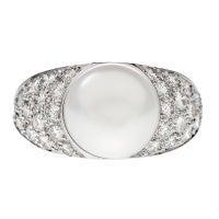HARRY WINSTON Platinum Pearl Diamond Platinum Ring