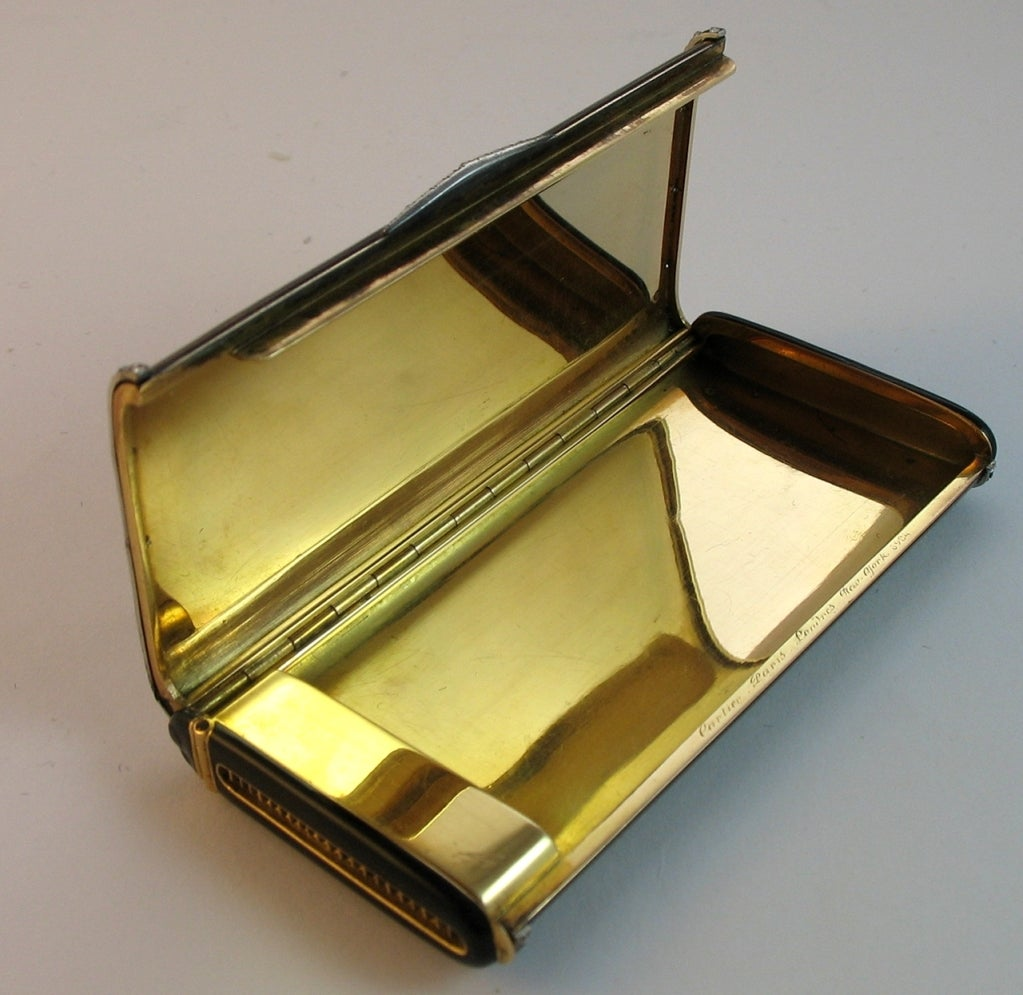 Cigarette Diamond: CARTIER Gold, Enamel And Diamond Cigarette Case At 1stdibs