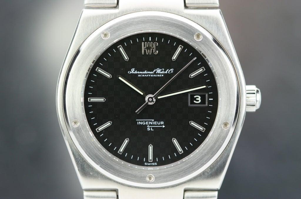 IWC Stainless Steel Ingenieur SL Tresor Wristwatch circa 1970s 2