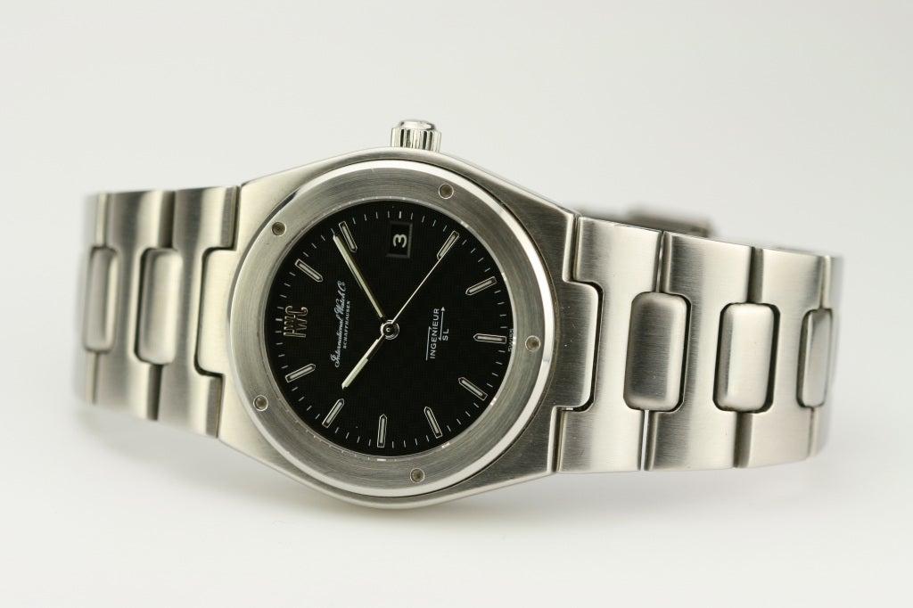 IWC Stainless Steel Ingenieur SL Tresor Wristwatch circa 1970s 3