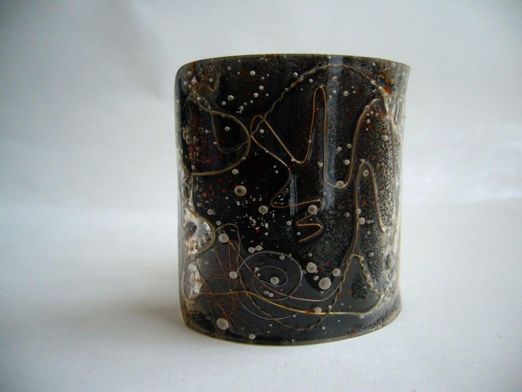 Zahara Schatz Laminated Acrylic Cuff Bracelet 2
