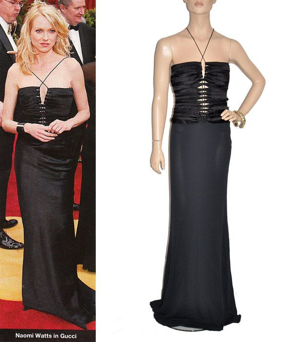 TOM FORD for GUCCI Black Gown NAOMI WATTS wore the same For Sale at ...