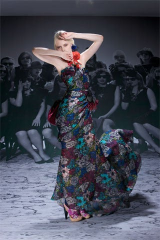 Lanvin Floral print long bustier dress image 3
